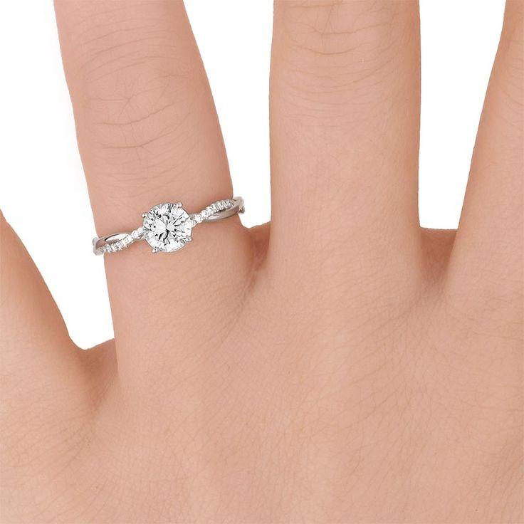 Platinum Petite Twisted Vine Diamond Ring Dresses