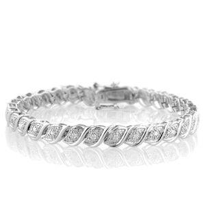 "1/2 Carat tw Diamond Tennis Bracelet in Sterling Silver - 7.5""... Only $49.95 ( use code AV60 at checkout - reg. $280!)"