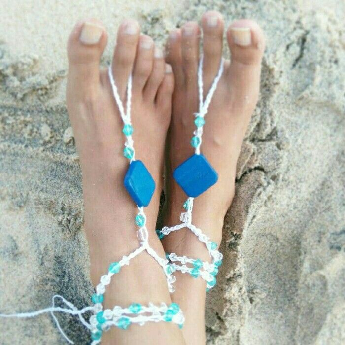 Yang udh kelar ujian ada rencana #Liburan kmn nih? Klo mw k main ke pantai jgn lupa kenakan #barefootsandal ini yach..   Barefootsandal3. 50rb. Made of cotton yarn.  #summer #beachwear #sun #crochetsandal #yarn #gelangkaki #bali #kuta #summerjewelry #feetjewelry