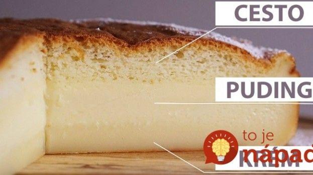 * Magický koláč: Z jedného cesta, z jednej misy a predsa má TRI vrstvy! Péct v malé formě - do 20 cm, místo vanilkové aromy jsem dala vanil. cukr, mléko dát vlažné.