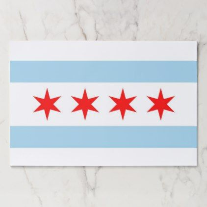 Tearaway paper pad with Flag of Chicago USA - trendy gifts cool gift ideas customize