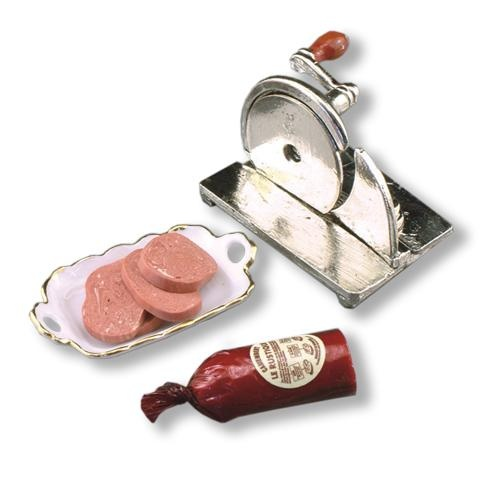 Hand Meat Slicer Set | Mary's Dollhouse Miniatures HAHA. HQ 25