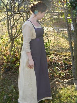 Wool Regency Apron with sewing tips