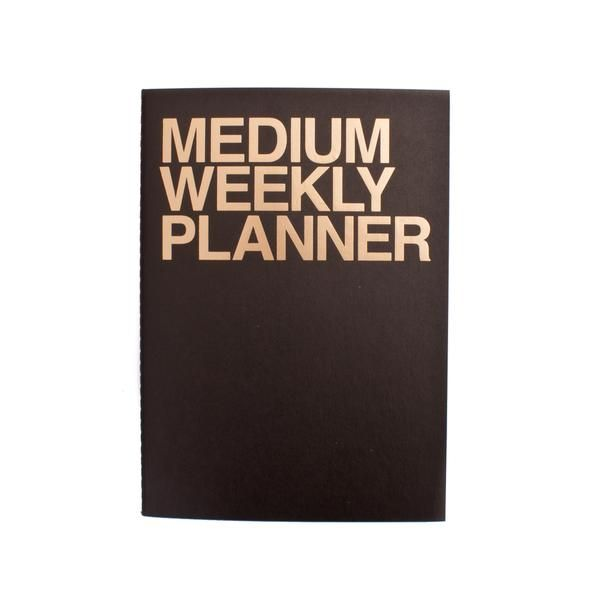 J Story Medium Weekly Planner Gold on Black