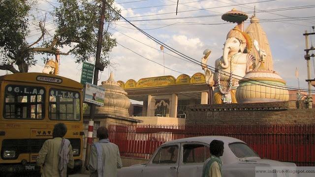 Ganesh-temple in Vrindavan, India, 2007