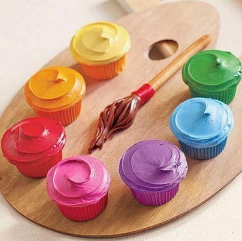 Cupcakes para festa pintando o sete
