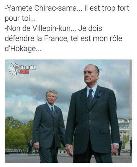 Yamete, Chirac-sama ! - Be-troll - vidéos humour, actualité insolite