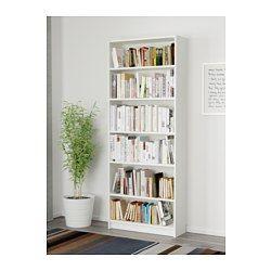 BILLY Bookcase, white - 80x28x202 cm - IKEA
