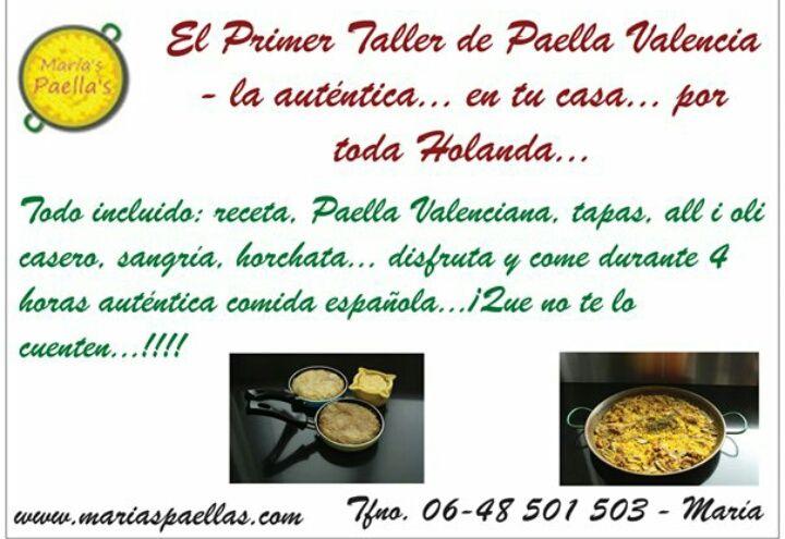Deliciosa Paella quien no desea aprender este exquisito plato Español! Recuerda comunicarte con el número anunciado para mas información