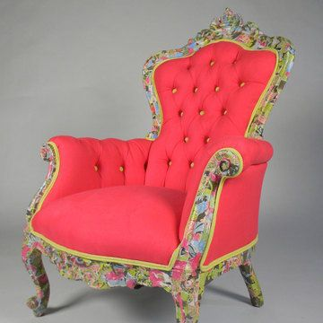 Gorgeous!!!Funky Chairs, Dreams, Colors, Happy Chairs, Reading Chairs, Pink, Antiques Chairs, House, Furniture