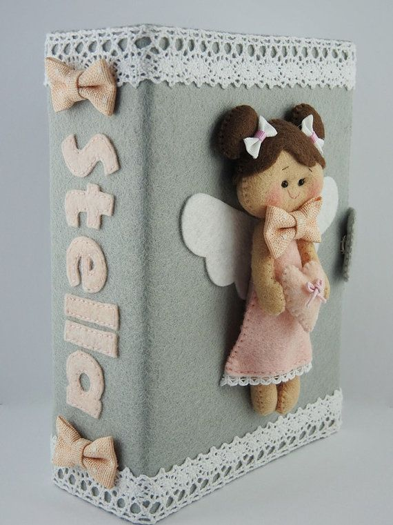 Personalized photo album - kids photo album - baby photo album - 6x4 - doll - angel