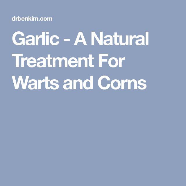 Garlic - A Natural Treatment For Warts and Corns