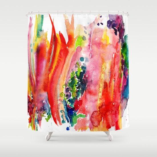 17 Best ideas about Shower Curtain Art on Pinterest   Fabric ...