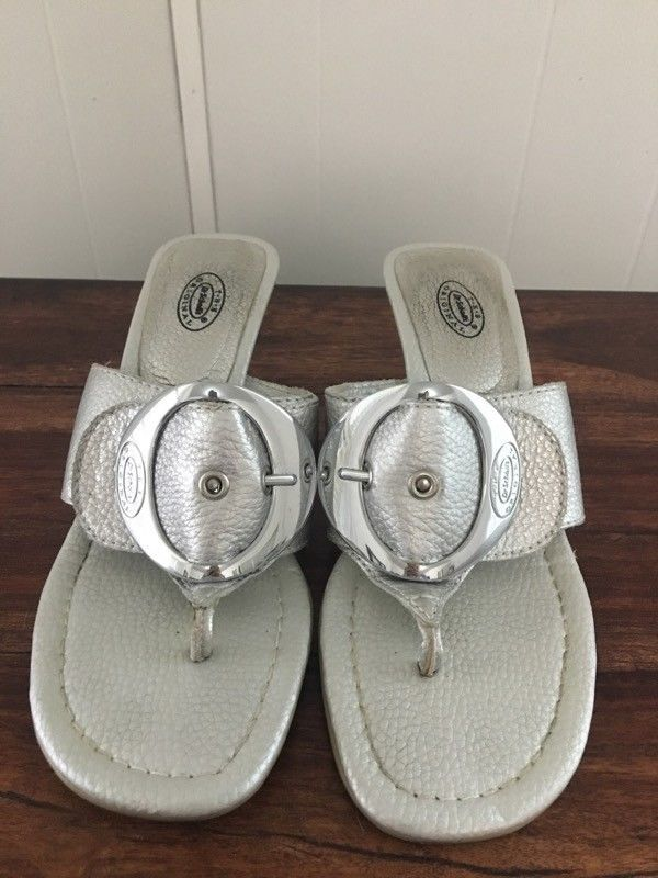 d3685ff40663 Dr. Scholl s Zodiac Metalic Silver Kitten Heels  fashion  clothing  shoes   accessories  womensshoes  sandals  ad (ebay link)