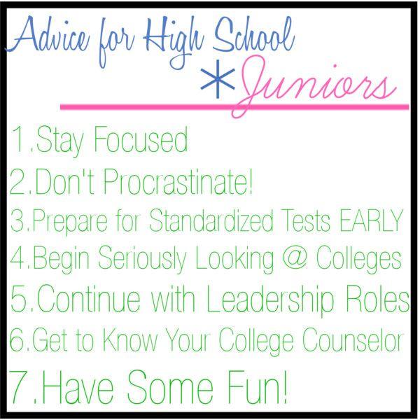 Advice for High School Juniors by prepinyourstep, via Polyvore