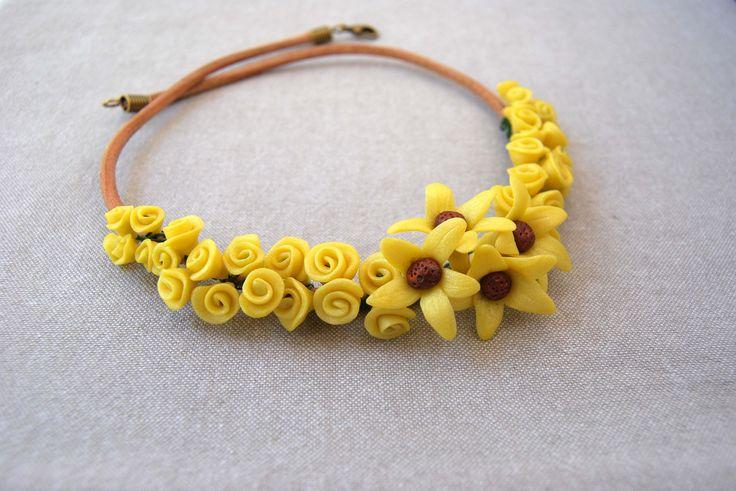 Summer Necklace Yellow & Brown Summer Holidays Bridesmaids