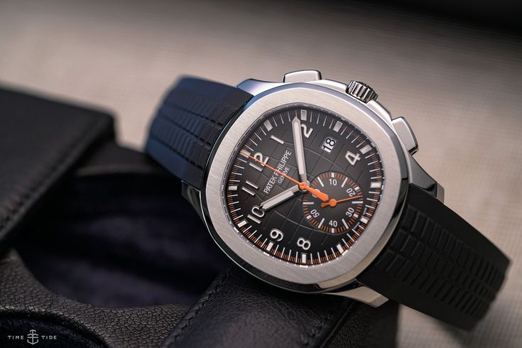 """One of the more entertaining games to play at Baselworld 2018 is: """"Who is Brand X after with this watch?"""" In some cases the answer can be as clear as mud, but in the case of the new Patek Philippe Aquanaut Chronograph it's a bit of a no-brainer. Bright orange accents on its dial, and sold with bo..."""