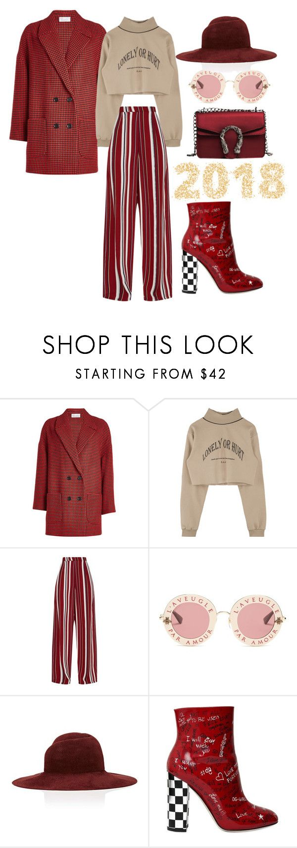 """""""RD"""" by mariellgzz on Polyvore featuring RED Valentino, Gucci, Eugenia Kim and Dolce&Gabbana"""