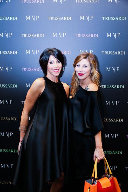 Cristiana Vaccaro and Michela Andreozzi at the  #MVPforTrussardi event in Rome. #MVPCreations #Trussardi