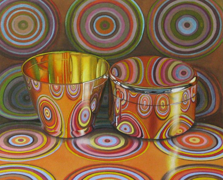 Full Circle by Jeanette Pasin Sloan / 14x15 / Gouche & Watercolor