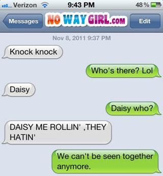 Text Message Win!