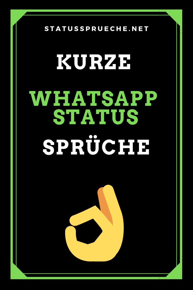 WhatsApp Status Sprüche Landing | Kurze status sprüche ...