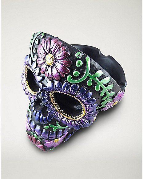 Skull Head Ashtray - Purple - Spencer's
