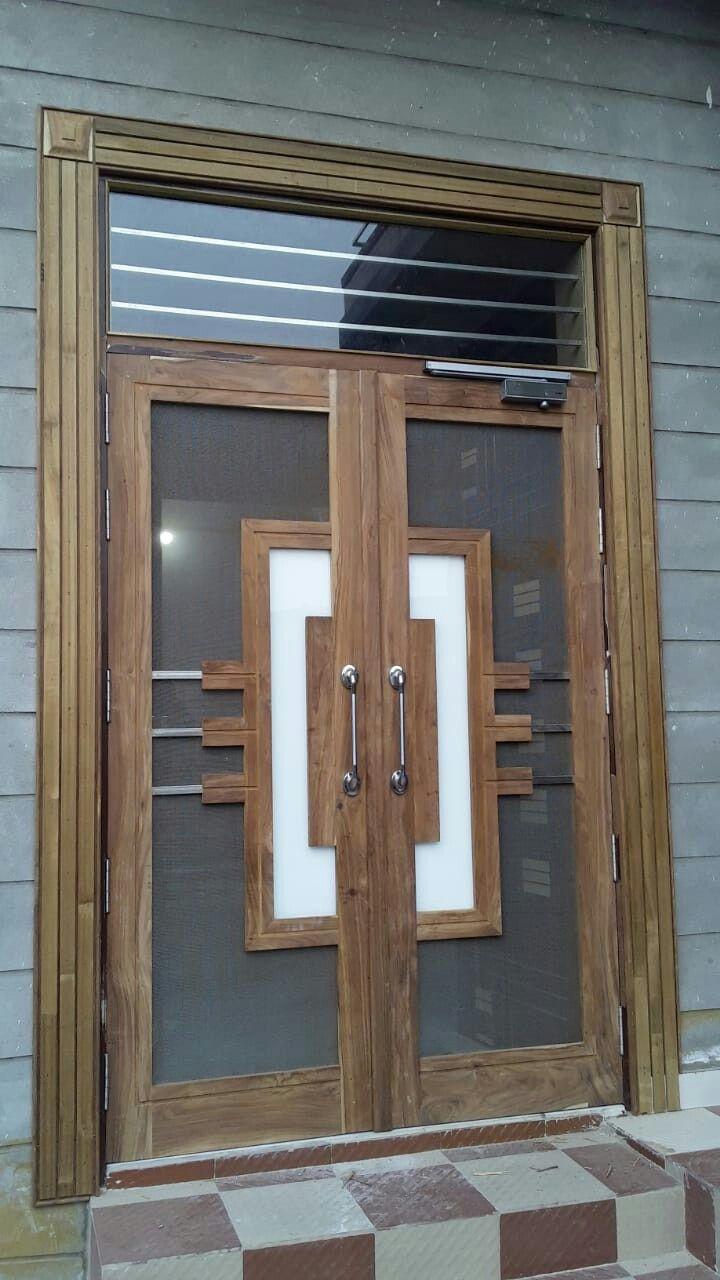 Pin By Salsa Fauzia On Door Wooden Front Door Design Wooden Main Door Design Door Design Wood
