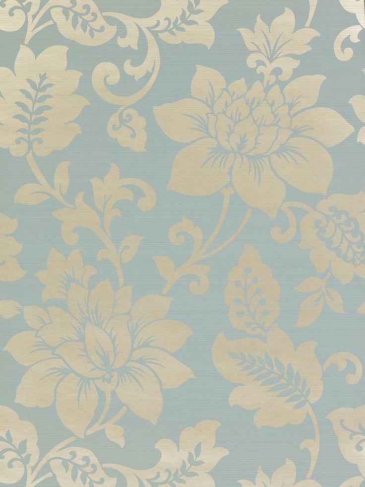 Harlequin Wallpaper, Sophistication 25678, Sky / Gilver online at John Lewis (£40)