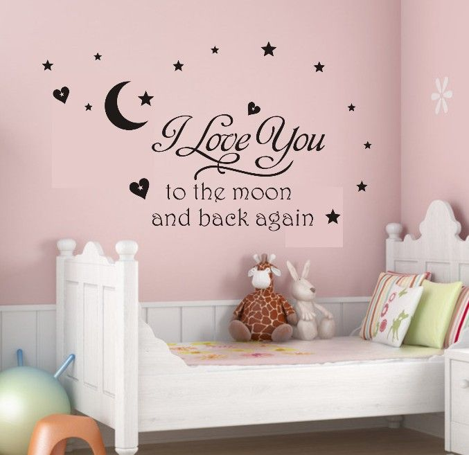 Newsee Decals I Love You To Moon Wall Quote Decal Sticker Kids Nursery Room  Art Decor (Black) HOT! A Beautiful Wall Art Wall Decal For Your Home Or  Office ...