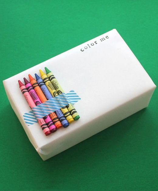 gift wrap for kids. Especially useful at huge Christmas parties where they have to wait to open presents.