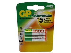 GP AA NiMH Rechargeable Batteries for Olympus AF-30 (2-Count, 2500mAh) by GP. $5.49. GP AA NiMH rechargeable batteries are great for use in your household devices, such as digital cameras, toys, remote controls, flashlights, and portable audio players.