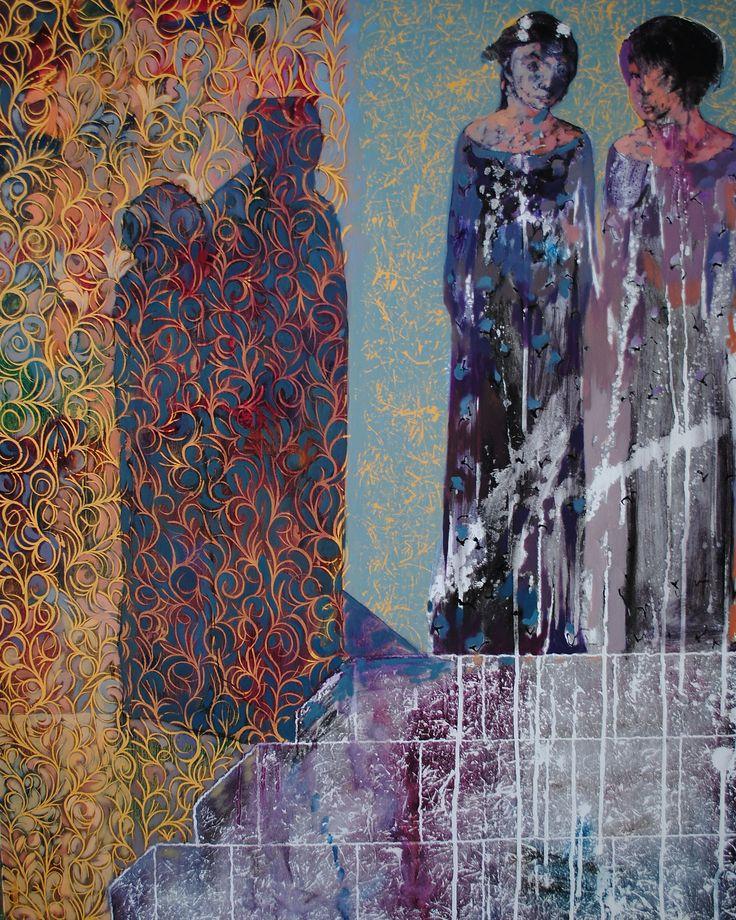 Fulanitas de tales 100 cm x 80 cm Óleo-Lienzo 2012 3.000€  #arte #art #artecubano #cubanart #galerías #galleries #pintura #painting #EdelBordon
