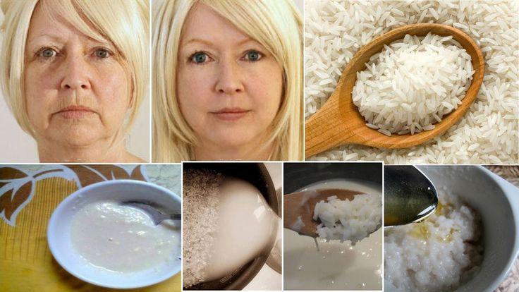 Máscara de arroz rejuvenescedora, para ficar 10 anos mais jovem/segredo ...