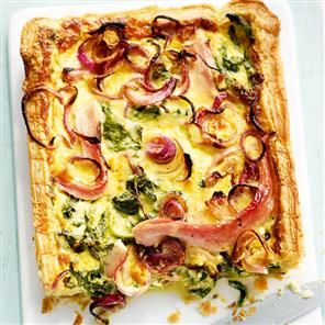 Creamy ham and spinach puff tart recipe. This ham and spinach tart recipe is particularly good if you're feeding friends and family on a budget.