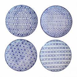 Beautiful blue and white porcelain plates, www.idyllhome.co.uk