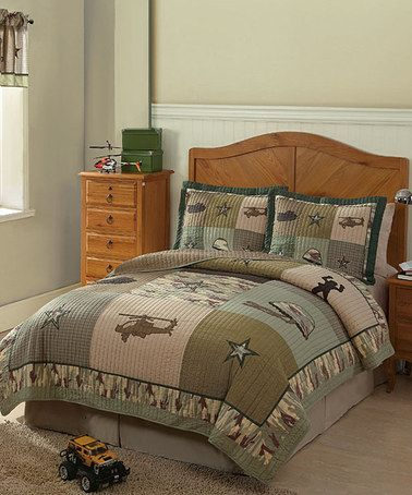Take a look at this Camouflage Soldier Quilt Set by Pem America on #zulily today!