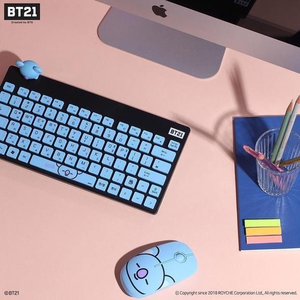 b78d6143 Bt21 x royche wireless keyboard in 2019   Official BT21 Merch   Bts ...