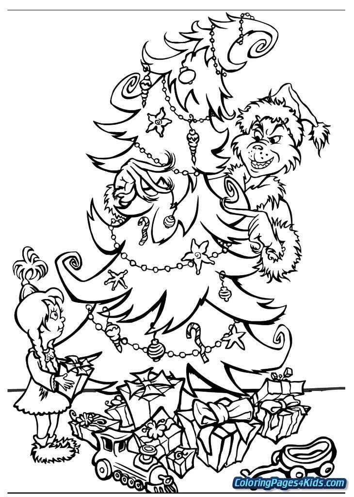 How The Grinch Stole Christmas Coloring Pages Get Coloring This H Printable Christmas Coloring Pages Christmas Coloring Sheets Christmas Present Coloring Pages