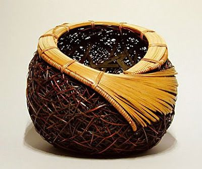 """This basket is from Kogyoku - which means """"bamboo grove treasure,"""" is Monden's artistic name, given to him when he was 21."""