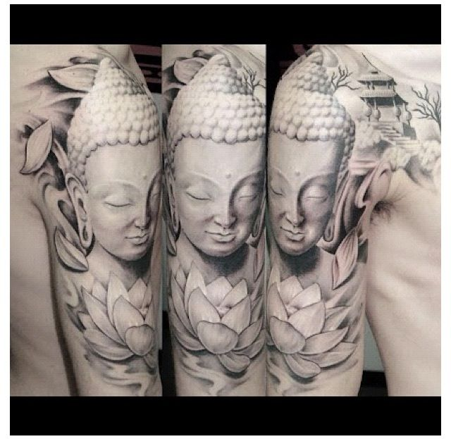 Arm tattoo of the Buddha