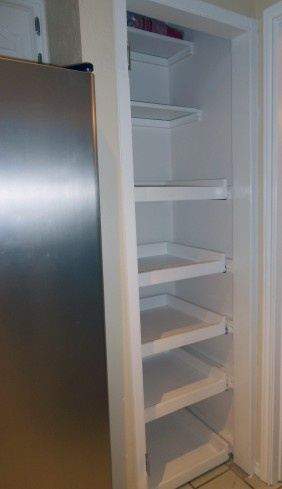 DIY pull-out shelves that would work in our pantry