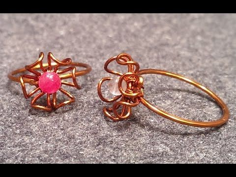 handmade jewelry - Wire Jewelry Lessons - DIY - How to make flower ring