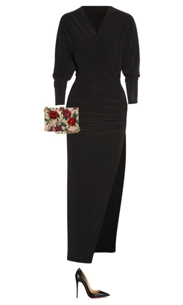 night out by alesizzle on Polyvore featuring polyvore fashion style Norma Kamali Christian Louboutin Dolce&Gabbana clothing