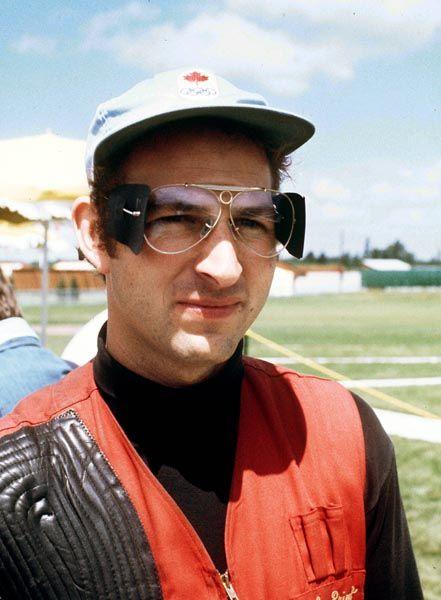John Primrose du Canada participe à l'épreuve de tir aux Jeux olympiques de Montréal de 1976. (Photo PC/AOC)
