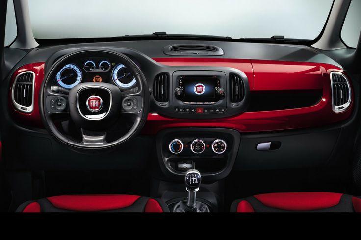 Interior view of the 2014 Fiat 500L