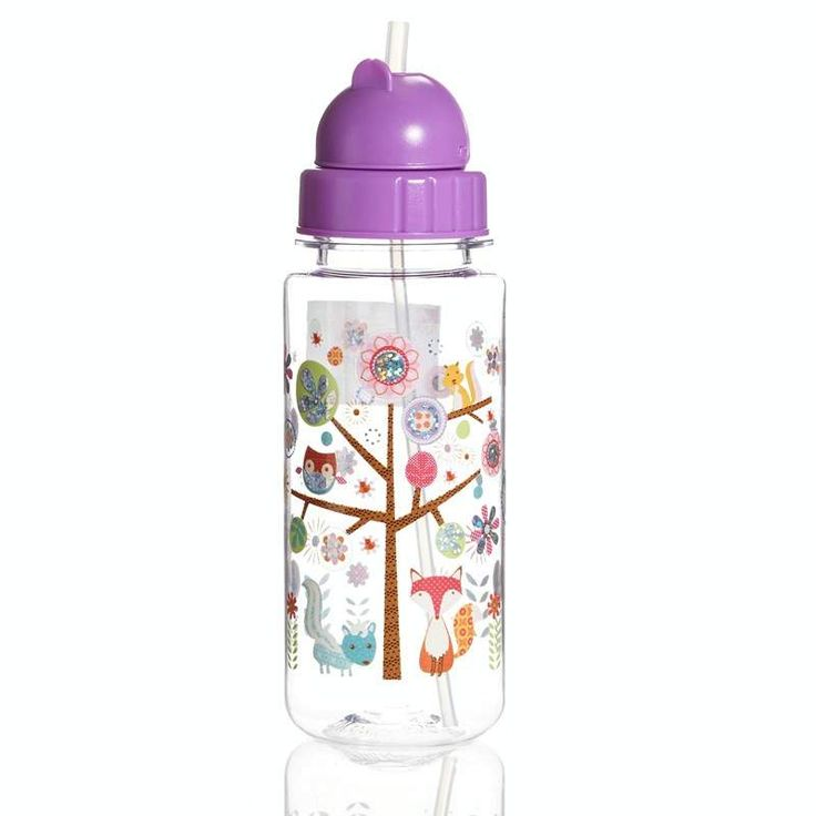 Water Bottle w Flip Up Straw Woodland 310096088 | Sippy Training Cups | Dishes Utensils | Feeding | Burlington Coat Factory
