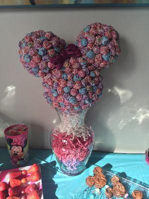 Minnie Mouse Sucker Centerpiece