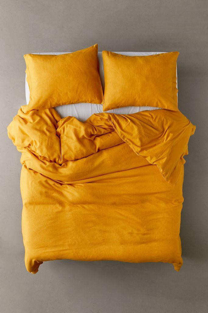 Palmer Linen Blend Duvet Cover Linen Blend Duvet Duvet Covers Yellow Queen Size Duvet Covers
