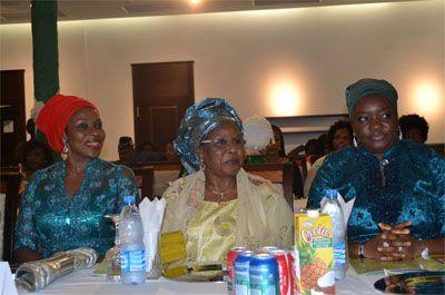 L-R. HE Mrs Obioma Liyel-Imoke, Hajiya Zainab Maina, and HE Mrs Ekaette Unoma Godswill Akpabio